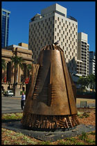 Sculpture at King George Square, Brisbane, QLD, Australia