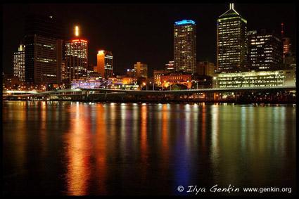 City at Night, View from the Kangaroo Point, Brisbane, QLD, Australia