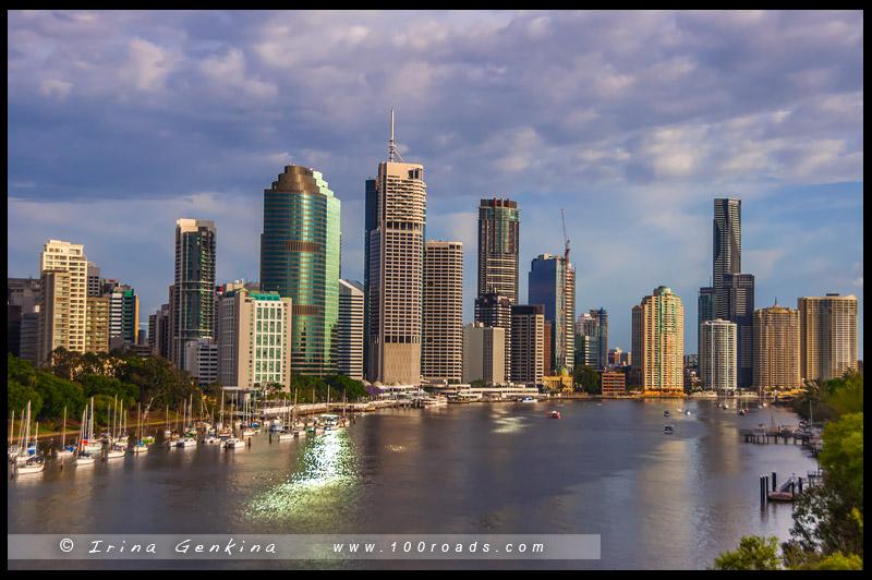 Кенгуру-Поинт, Kangaroo Point, Брисбен, Brisbane, Квинсленд, Queensland, Австралия, Australia