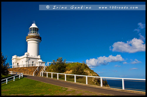 Маяк на Мысе Байрон, The Cape Byron Lighthouse, Мыс Байрон, Cape Byron, Байрон Бэй, Byron Bay, Новый Южный Уэльс, NSW, Австралия, Australia