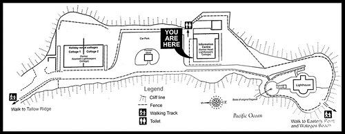 Схема территории, Маяк на Мысе Байрон, The Cape Byron Lighthouse, Мыс Байрон, Cape Byron, Байрон Бэй, Byron Bay, Новый Южный Уэльс, NSW, Австралия, Australia