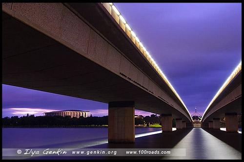 Мост Содружества, Commonwealth Bridge, Канберра, Canberra, Австралийская столичная территория, ACT, Австралия, Australia