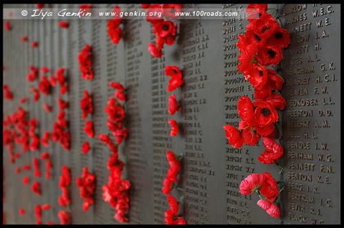 Стена славы, Roll of Honour, Австралийский военный мемориал, Australian War Memorial, Канберра, Canberra, Австралийская столичная территория, ACT, Австралия, Australia