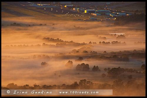 Вид с горы Эйнсли, View from Mount Ainslie, Канберра, Canberra, Австралийская столичная территория, ACT, Австралия, Australia