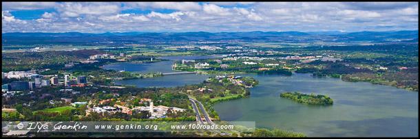 Озеро Берли Гриффин, Burley Griffin Lake, Канберра, Canberra, Австралийская столичная территория, ACT, Австралия, Australia