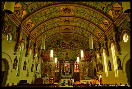 The Spectacular Murals Adorning the Interior of St Mary's Church, Bairnsdale, Gippsland, VIC, Australia