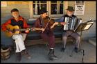 Костюм 19 век, Музыканты, Соверен Хилл, Sovereign Hill, Балларат, Ballarat, Виктория, Victoria, Австралия, Australia