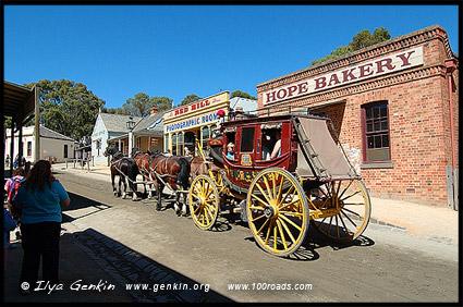 Карета, Соверен Хилл, Sovereign Hill, Балларат, Ballarat, Виктория, Victoria, Австралия, Australia