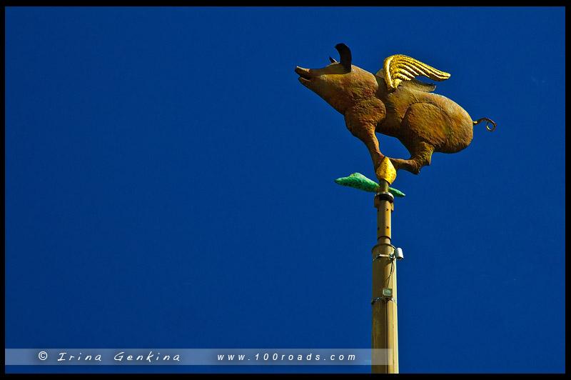 Флюгер, Weathervanes, Крылатая свинка, Melbourne, Victoria, Australia
