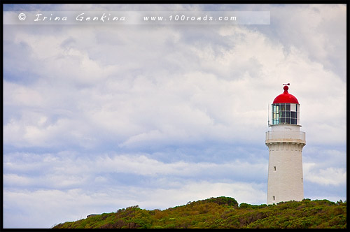 Маяк на Мысе Шанк, Cape Schanck Lighthouse, Полуостпов Монингтон, Mornington Peninsula, Виктория, Victoria, VIC, Австралия, Australia