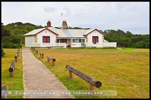Маяк Мыса Шанк, Cape Schanck Lighthouse, Полуостпов Монингтон, Mornington Peninsula, Виктория, Victoria, VIC, Австралия, Australia