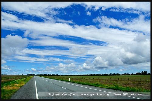 Трасса Стюрт, Sturt HWY, Новый Южный Уэльс, NSW, Австралия, Australia