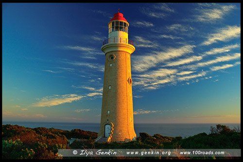 Маяк Дю Куэдик, Cape du Couedic Lighthouse, Остров Кенгуру, Kangaroo Island, Южная Australia, South Australia, Австралия, Australia