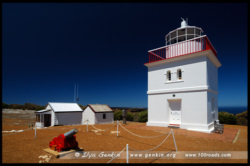 Маяк Мыс Борда, Cape Borda Lighthouse, Остров Кенгуру, Kangaroo Island, Южная Australia, South Australia, Австралия, Australia
