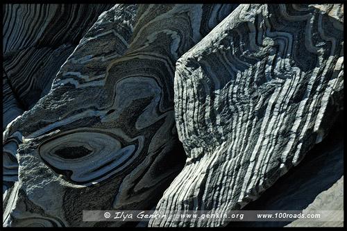 Каменные формации на Harveys Return, Мыс Борда, Cape Borda, Остров Кенгуру, Kangaroo Island, Южная Australia, South Australia, Австралия, Australia