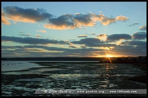 Закат на American River, Остров Кенгуру, Kangaroo Island, Южная Australia, South Australia, Австралия, Australia