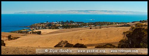 Вид на Пеннешо (Penneshaw) утром, Остров Кенгуру, Kangaroo Island, Южная Australia, South Australia, Австралия, Australia
