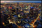 City at Night, View from the Rialto Towers, Мельбурн, Melbourne, штат Виктория, Victoria, Австралия, Australia