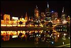 Ночной город с Южного берега, City at Night, View from the Southbank, Мельбурн, Melbourne, штат Виктория, Victoria, Австралия, Australia