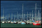 City from the Williamstown (Through Yachts), Мельбурн, Melbourne, штат Виктория, Victoria, Австралия, Australia
