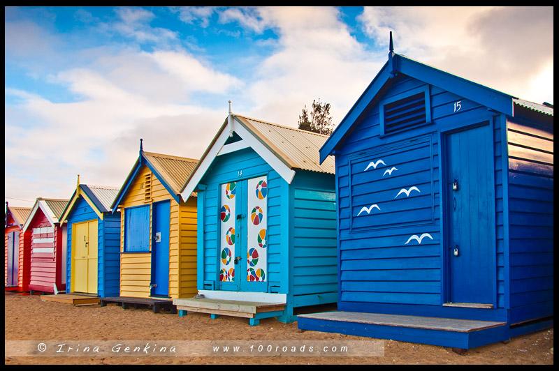 Dendy-Бич-Стрит, Dendy Street Beach, Брайтон, Brighton, Мельбурн, Melbourne, Австралия, Australia