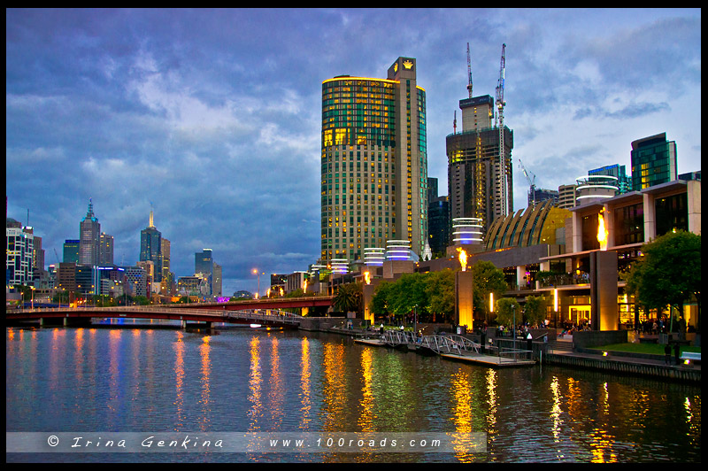 Южный Берег Ярры, Southbank Promenade, Мельбурн, Melbourne, Австралия, Australia