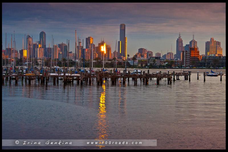 Пристань для яхт Сент-Кильда, The St Kilda Marina, Мельбурн, Melbourne, Австралия, Australia