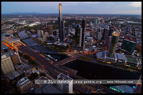 Вид на Мельбурн, Риалто Тауэрс, Rialto Towers, Мельбурн, Melbourne, Австралия, Australia