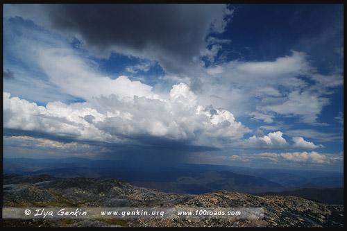 Вид со смотровой площадки The Horn, Национальный парк Горы Баффало, Mt Buffalo NP, Виктория, Victoria, Австралия, Australia