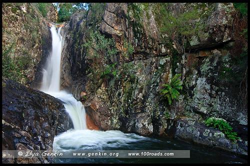 Нижний Водопад Ролласонс, Lower Rollasons Falls, Национальный парк Горы Баффало, Mt Buffalo NP, Виктория, Victoria, Австралийские Альпы, Australian Alps, Австралия, Australia