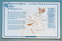 Схема трека Corral - Castle Track, Национальный парк Горы Баффало, Mt Buffalo NP, Виктория, Victoria, Австралийские Альпы, Australian Alps, Австралия, Australia