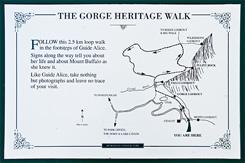 Схема трека The Gorge Heritage Walk, Национальный парк Горы Баффало, Mt Buffalo NP, Виктория, Victoria, Австралия, Australia