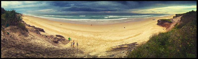 Пляж около Black Rocks Camping Area, Новый Южный Уэльс, New South Wales, Австралия, Australia
