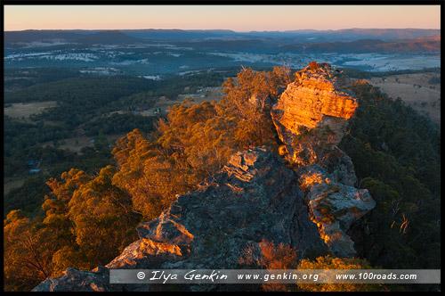 <Стены Хассанс, Hassans Walls, Литгоу, Lithgow, Новый Южный Уэльс, NSW, Австралия, Australia
