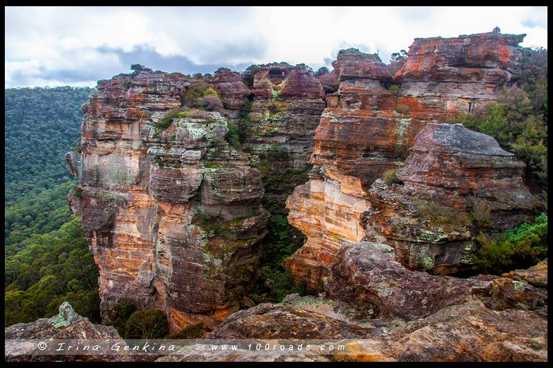 Стены Хассана, Hassans Walls, Литгоу, Lithgow, Голубые Горы, Blue Mountains, Новый Южный Уэльс, NSW, Австралия, Australia
