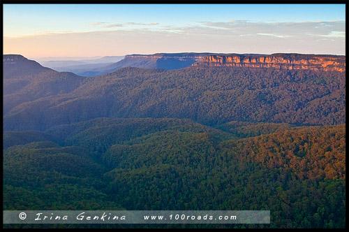 Три сестры, Three Sisters, Эхо поинт, Echo Point, Катумба, Katoomba, Голубые Горы, Blue Mountains, Новый Южный Уэльс, NSW, Австралия, Australia