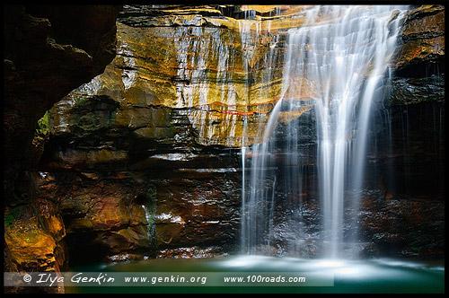 <Водопад Императрица, Empress Falls, Долина Вод, The Valley of the Waters, Водопады Вентворт, Вентворт Фолс, Wentworth Falls, Голубые Горы, Blue Mountains, Новый Южный Уэльс, NSW, Австралия, Australia