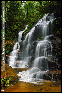 <Водопад Сильвия, Sylvia Falls, Долина Вод, The Valley of the Waters, Водопады Вентворт, Вентворт Фолс, Wentworth Falls, Голубые Горы, Blue Mountains, Новый Южный Уэльс, NSW, Австралия, Australia