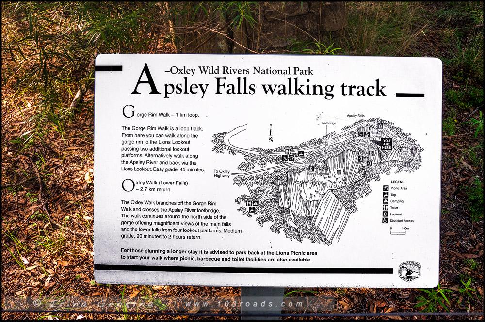 Водопад Апслей, Apsley Falls, Новая Англия, New England, Новый Южный Уэльс, New South Wales, NSW, Австралия, Australia