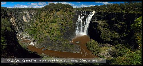 Водопад Апслей, Apsley Falls, Валча, Волка, Walcha, Новая Англия, New England, Новый Южный Уэльс, New South Wales, NSW, Австралия, Australia