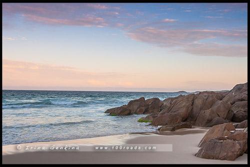 Рассвет, Бухта Нельсона, Nelson Bay, Порт Стивенс, Порт Стефенс, Port Stephens, Новый Южный Уэльс, NSW, Австралия, Australia