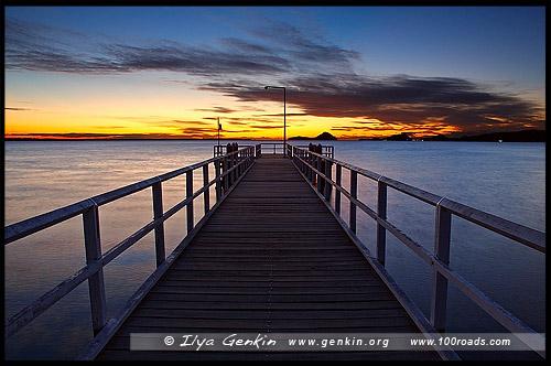 Пирс, Солдатская точка, Soldiers Point, Порт Стивенс, Порт Стефенс, Port Stephens, Новый Южный Уэльс, NSW, Австралия, Australia