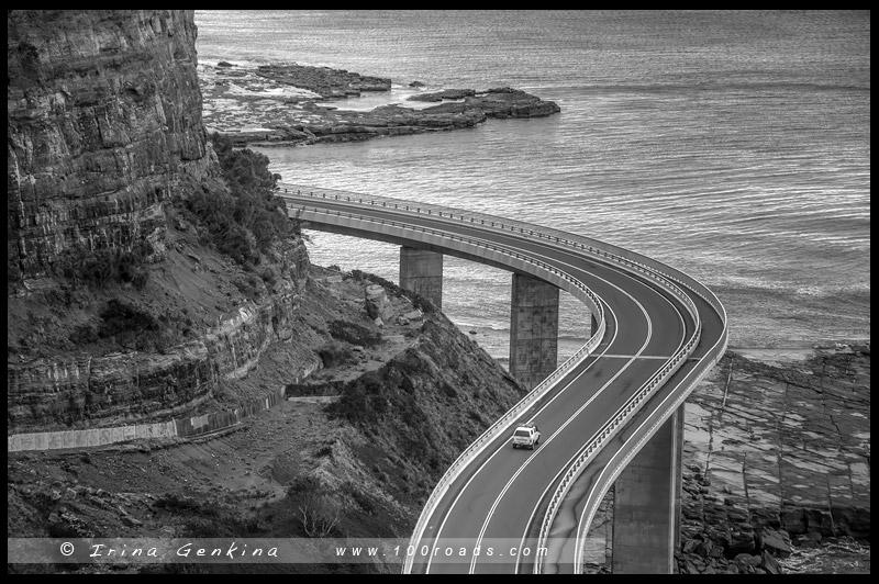 Мост морского обрыва, Sea Cliff Bridge, Волонгонг, Wollongong, Новый Южный Уэльс, New South Wales, Австралия, Australia