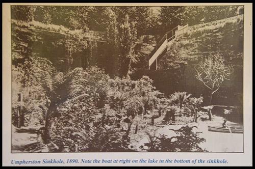 Старое фото, Пещерный Сад, Cave Gardens, Маунт Гембер, Mount Gambier, Южная Австралия, South Australia, SA, Австралия, Australia