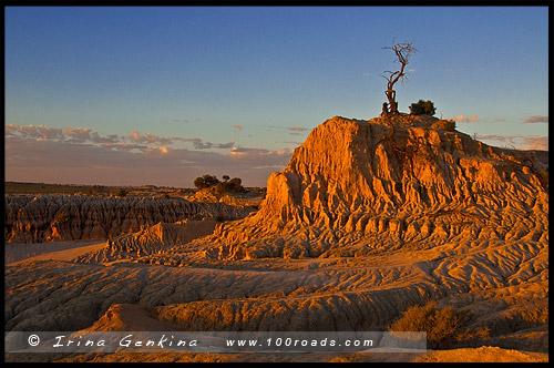 Формации великой Китайской стены, Part of The Walls of China, Национальный Парк Манго, Mungo Natonal Park, Новый Южный Уэльс, New South Wales, NSW, Австралия, Australia