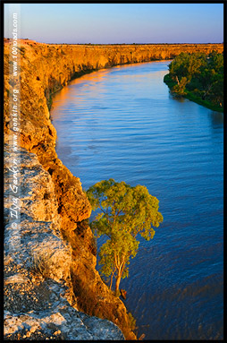 На закате, Большой изгиб, Big Bend, Мюррей, Murray, Южная Австралия, South Australia, SA, Австралия, Australia