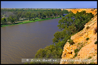 Вид со смотровой площадки Грейтз, Graetz Lookout, Мюррей, Murray, Южная Австралия, South Australia, SA, Австралия, Australia
