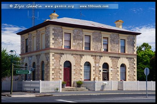 Здание отделения Национального Банка в Пеноле, Penola National Bank Building, Пенола, Penola, Южная Австралия, South Australia, SA, Австралия, Australia
