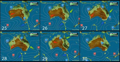 Погода в Австралии на рождественские каникулы 2010, Австралия, Australia