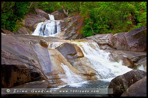 Водопад Джозефина, Josephine Falls, Плато Атертон, Atherton Tableland, Queensland, Квинсленд, QLD, Австралия, Australia